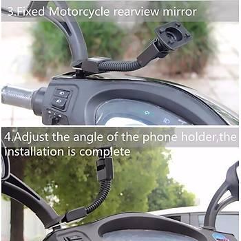 Motosiklet Gidon?a Monte Cep Telefonu Tutucu Su Geçirmez Çanta Kýlýf