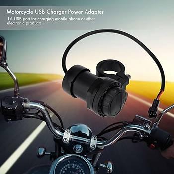 Motosiklet USB Þarj Güç Adaptörü 1A Su Geçirmez