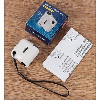 55x LED Iþýk El Cep Taþýnabilir Büyüteç Mini Yüksek Güç Mikroskop