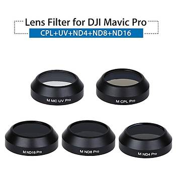 DJI Mavic PLATÝNUM Gimbal Lens Filtre Set ND4-ND8-ND16-UV-CPL/HD