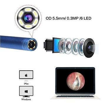 USB Kulak Temizleme Endoskop HD Kamera Kaþýk Set Earpick Sadece PC Ýçin