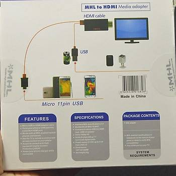 Telefondan-TV'ye HDMI Görüntü Aktarma Aparatý 1080P