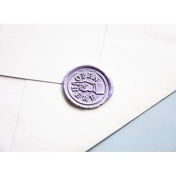 Mektup Damga Mühürü Open Here + 30 Mühür Mumu + Eritme Kaþýðý