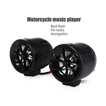 Motosiklet Alarm Hoparlör Ses Müzik Çalar MP3 FM USB SD AUX Desteði