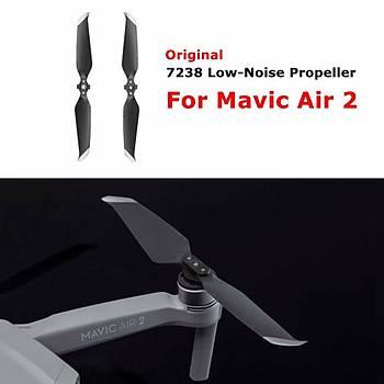 DJI Mavic Air 2 100 % Orjinal Sessiz Pervane 7238F 1 CW + 1 CCW