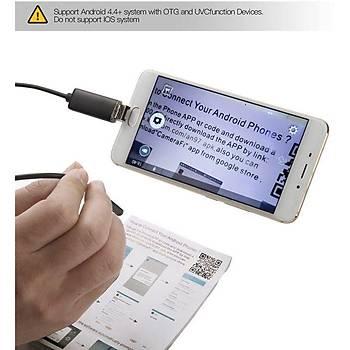 2 mt 7 mm Lensli 6 Ledli Endoskop Yýlan Kamera Su Geçirmez Android PC