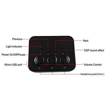 Bluetooth 4.0 Stereo 3 Çýkýþ Ses Splitter Adaptörü Müzik Alýcý