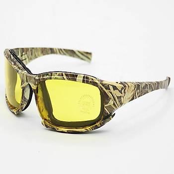 Daisy X7 Camo Taktikal UV Gözlük Motor, Sürüþ 4 Lensli