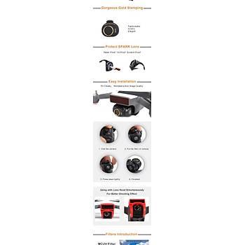 DJI Spark Gimbal Kamera HD MCUV Filtre Optik Lens
