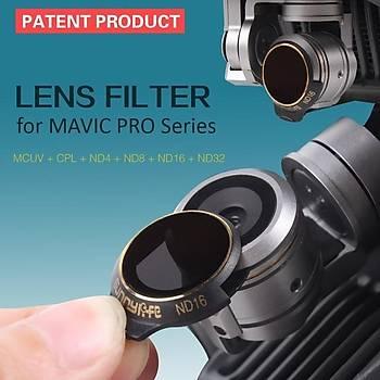 DJI Mavic Pro Alpine White  Kamera Ýçin Kýzaklý Upgrade Versiyon Optik Lens Filtre ND32