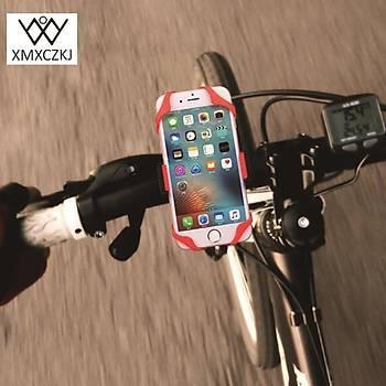 Motorsiklet Bisiklet Gidon Telefon Tutucu Silikon Kauçuk