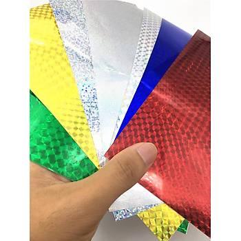 Sahte Balýk ve Kaþýk Renkli Holografik Balýk Cezbedici Çýkartma Bant Set