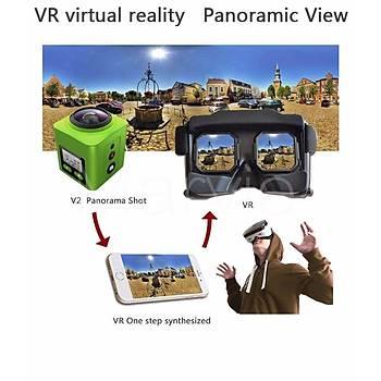 4K 360 ° 3D VR Wifi Ultra HD Panoramik Mini Kamera