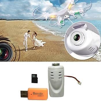 SYMA x5c x5sc x5c-1 m68 k300c için 2mp mini hd kamera seti