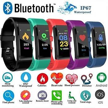 Akýllý Bileklik Spor Bluetooth 4.0 Saat Nabýz Tansiyon Adýmsayar Kalori Hesaplama
