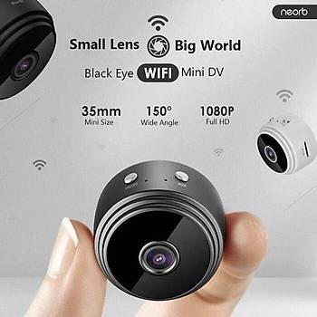 Mini WiFi HD 1080P IP Güvenlik Kamerasý DVR IR Gece Görüþ TF kart