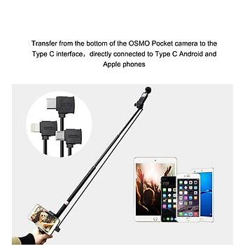DJI Osmo Pocket 100cm Uzatma Kablosu Type-C den Android Telefona