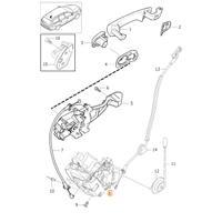 Volvo S80 Kapý Kilit Mekanizmasý Sol