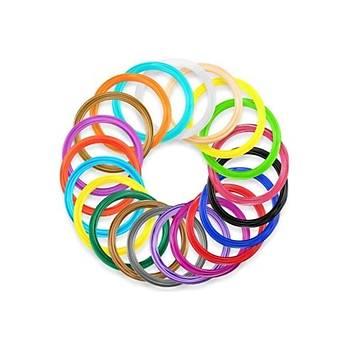 KUKA FÝLAMENT 20 Renk * 5 mt PLA Filament, 3D Kalem Filament, Plastik Þerit
