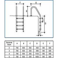 Standart 4 Basamak Merdiven AISI 304