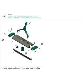 "Süpürge Yedek Parçalarý - Vacuum Head Spare Parts  1,5"" (456 mm )"