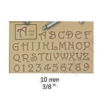 Harf ve Rakam Seti 10 mm
