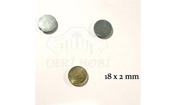 Gizli Mýknatýs 18x2 mm