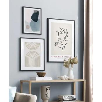 Lizia Home Ev Dekorasyonu Çerçeveli Poster Tablo Seti - Siyah Çerçeveli - 3 Adet