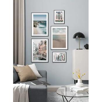 Lizia Home Ev Dekorasyonu Çerçeveli Poster Tablo Seti - Siyah Çerçeveli - 5 Adet