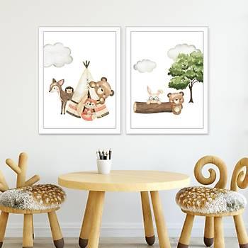 Ormandaki Sevimli Hayvanlar Ýkili Set