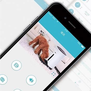Petwant Kameralı Akıllı Otomatik Kedi Köpek Mama Kabı