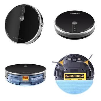 Liectroux C30B  Mop Vacuum Cleaner Akýllý Robot Süpürge Siyah