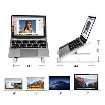 Bix Saiji X1 Alüminyum Notebook Laptop Standý Beyaz