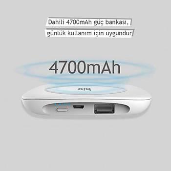 Bix HB-G40 Kablosuz Þarj Özellikli 4700 mAh Powerbank