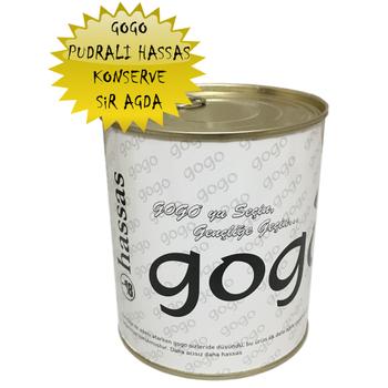 GOGO KONSERVE AĞDA HASSAS BEYAZ PUDRALI 800 ML.