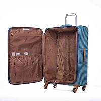 IT LUGGAGE KUMAŞ 3'LÜ VALİZ SETİ MAVİ 2262