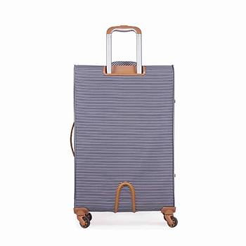 IT LUGGAGE KABÝN BOY KUMAÞ VALÝZ SÝYAH BEYAZ 2262