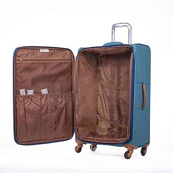 IT LUGGAGE KUMAÞ 3 LÜ VALÝZ SETÝ MAVÝ 2262