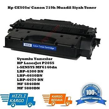 Hp CE505X /Canon 719H Muadil Siyah Toner (05X)