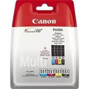 Canon Cli-551 CMY/BK Multipaket Kartuþ IP7250-MG5450-MG6350