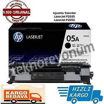 HP CE505A (05A) LaserJet P2035/P2055 Siyah Orjinal Toner