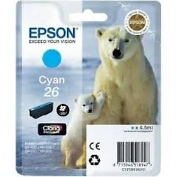 Epson T2612 (26)  Xp600, 700, 800 Mavi Kartuþ
