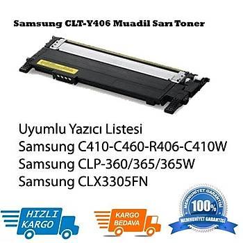 Samsung CLT-Y406 Muadil Sarý Toner Clp-365, Clx3305FN, C410