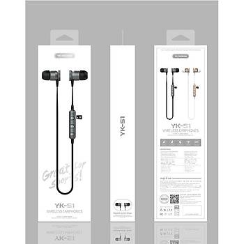 YK Design Bluetooth 5.0 Kablosuz Spor Kulaklýk Müzik Yk-S1 Siyah