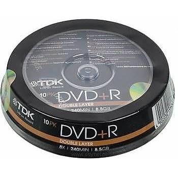 Tdk DVD+R 10 Double Layer Cake Box 8x 8,5GB