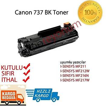 Canon Crg-737 BK Muadil Siyah Toner 2500 Sayfa MF211-MF212W-MF216N-MF217