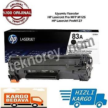 Hp CF283A Siyah Orjinal Toner 83A Pro MFP M125 / M127