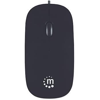 Manhattan Silhouette Kablolu Mouse APPLE MAC uyumlu Tasarýmý ile Elinize Uyum Saðlar