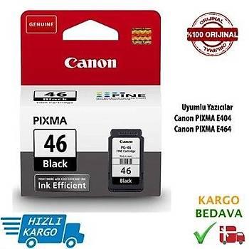 Canon Pg-46 Siyah Kartuþ Pixma E404, E414, E464, E474, E484