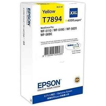 Epson T7894 WF-5110, 5190, 5620, 5690 Sarý Kartuþ